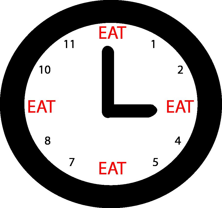 ما هو امثل عدد للوجبات لزيادة حرق الدهون او زيادة الشبع ؟